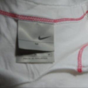 Nike Tops - T565 Nike White Pink Sleeveless Tee Size Medium